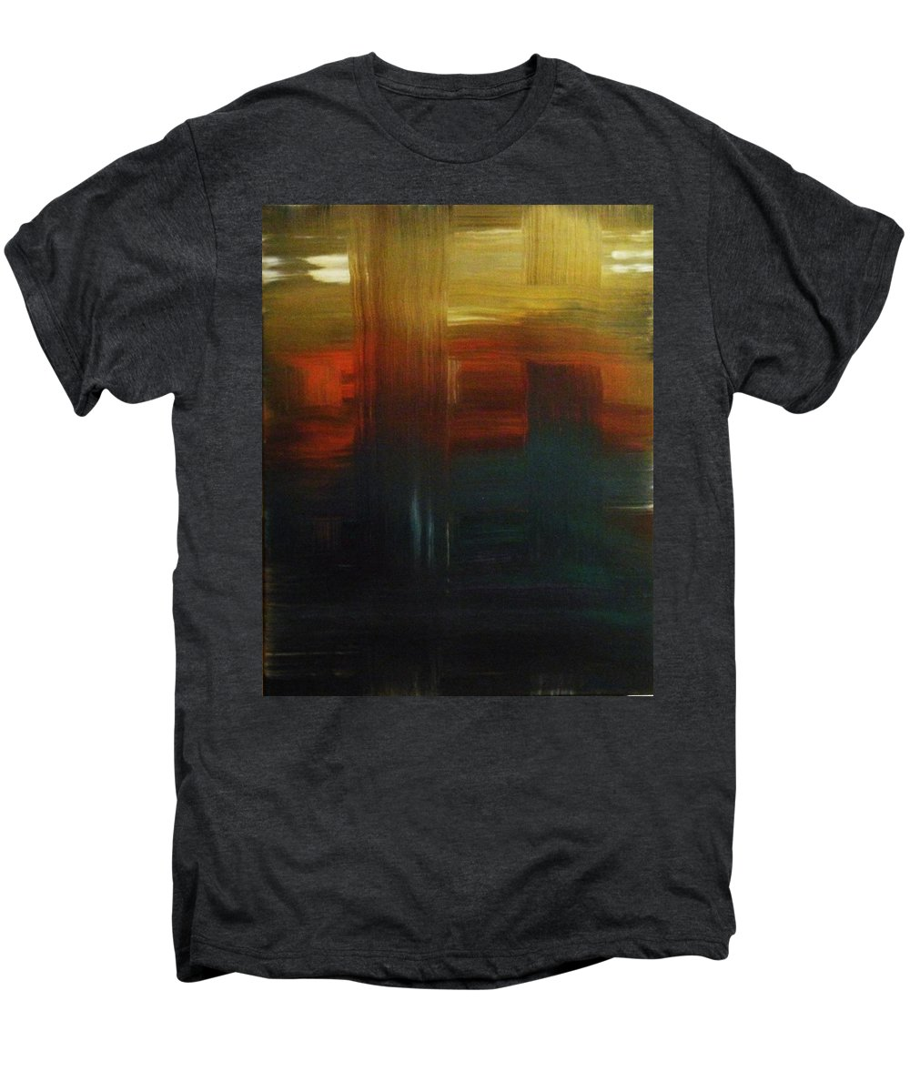 Abstract Men's Premium T-Shirt featuring the painting Crossroads by Todd Hoover