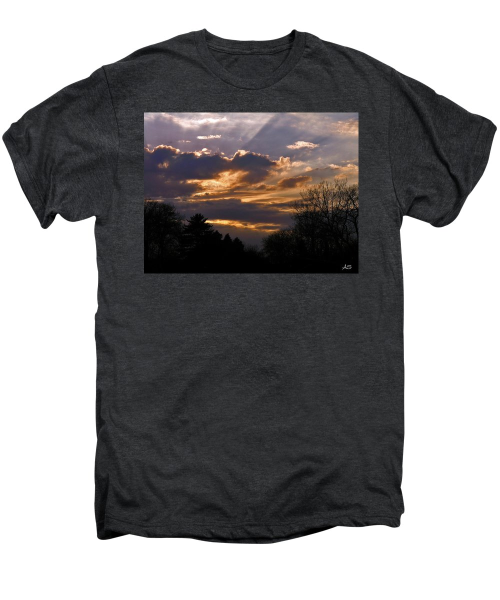 Cloud Men's Premium T-Shirt featuring the photograph Crown Cloud by Albert Stewart