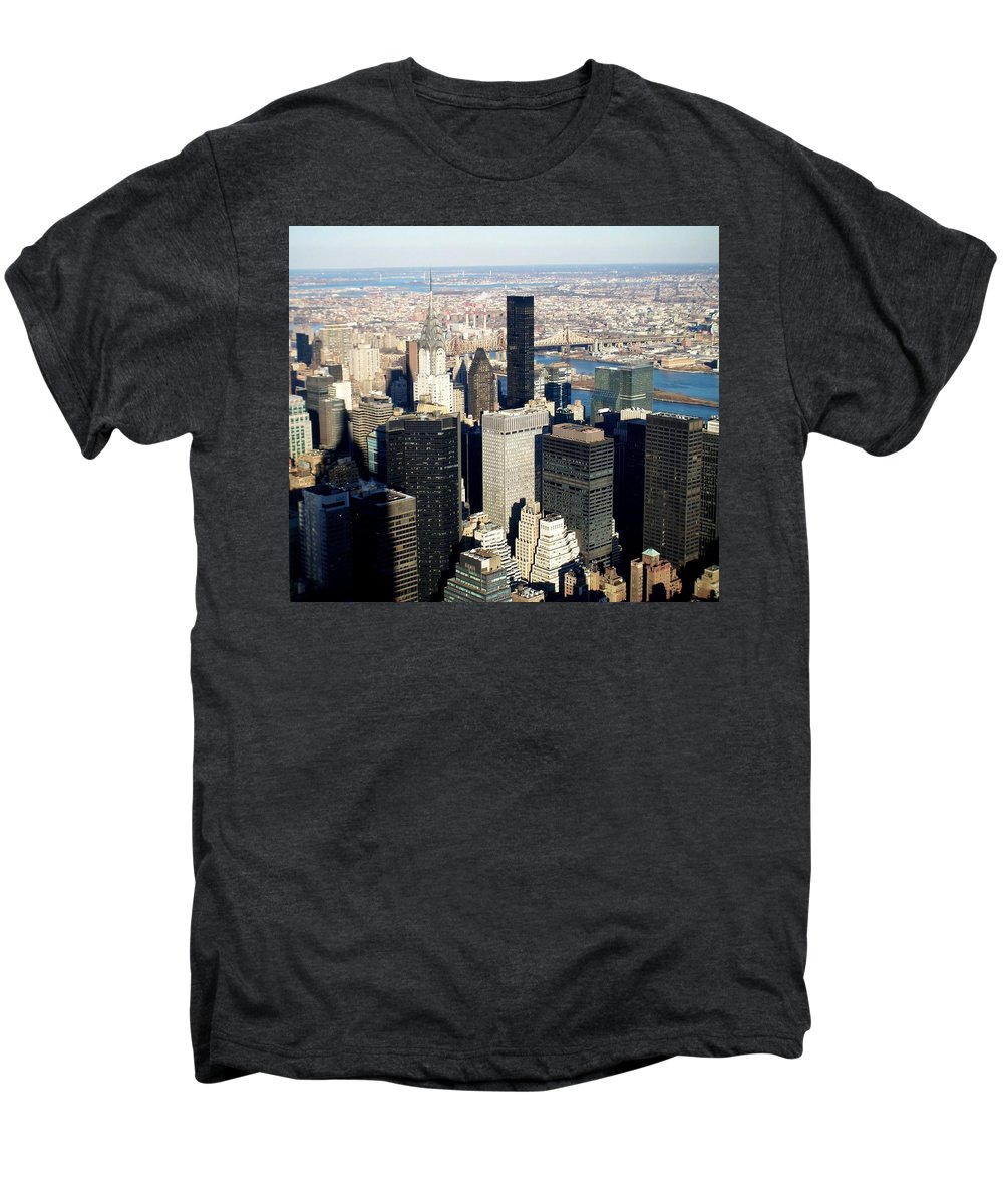Crystler Building Men's Premium T-Shirt featuring the photograph Crystler Building 2 by Anita Burgermeister