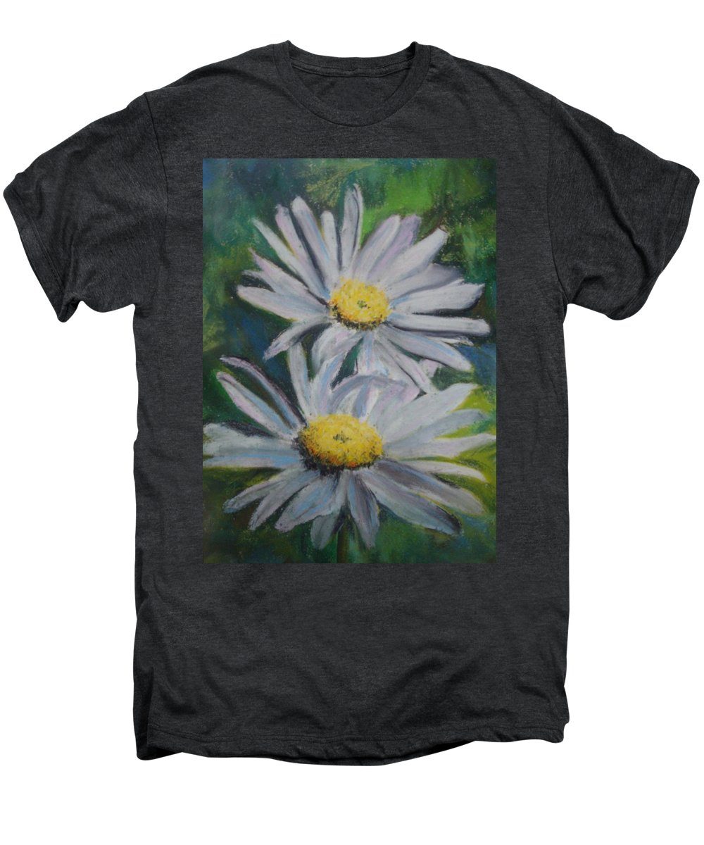 Daisies Men's Premium T-Shirt featuring the painting Daisies by Melinda Etzold