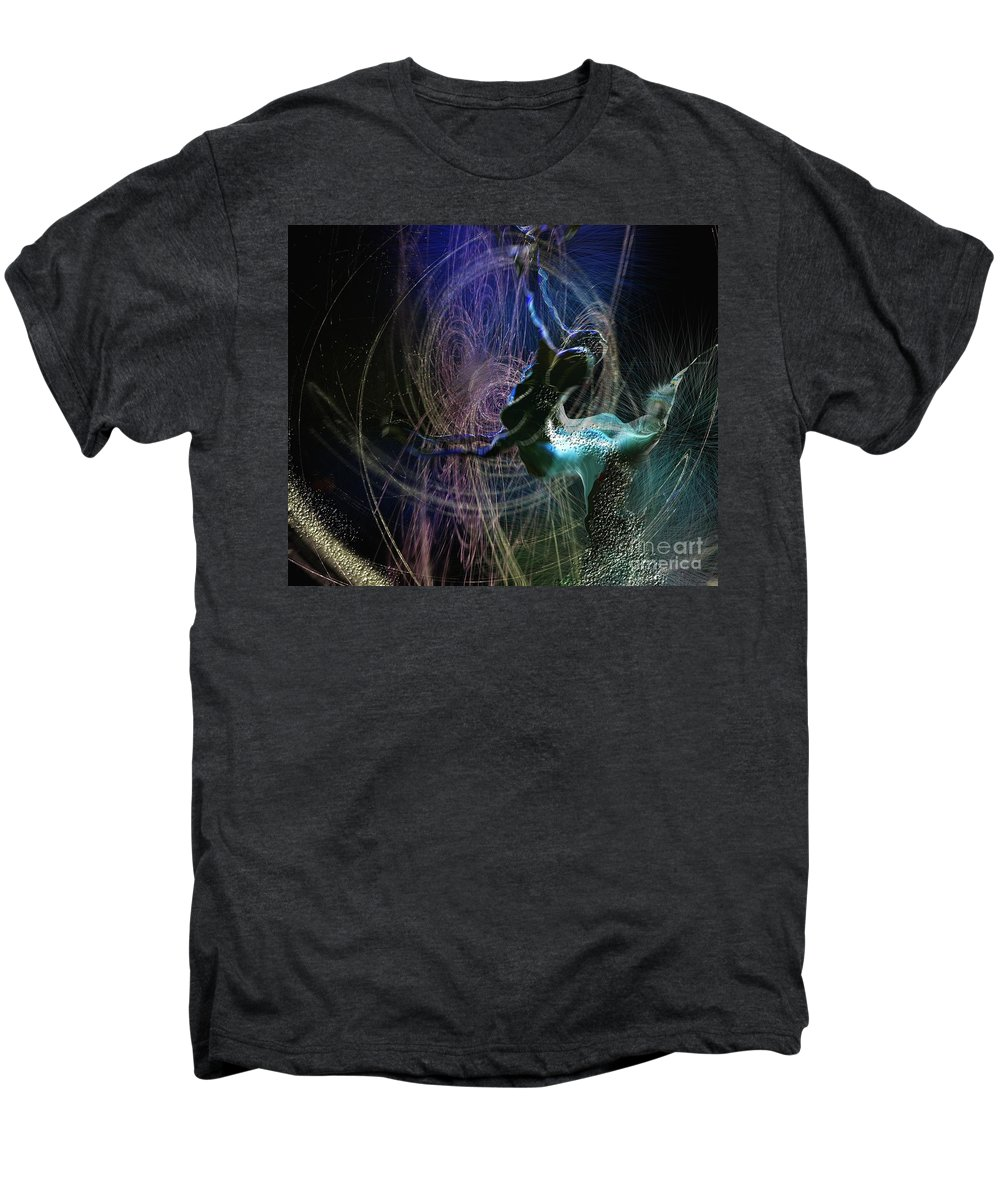 Nature Painting Men's Premium T-Shirt featuring the painting Dance Of The Universe by Miki De Goodaboom