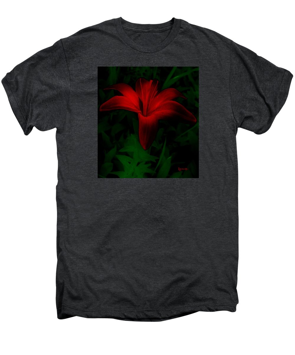 Lily Men's Premium T-Shirt featuring the painting Dark Star by RC deWinter