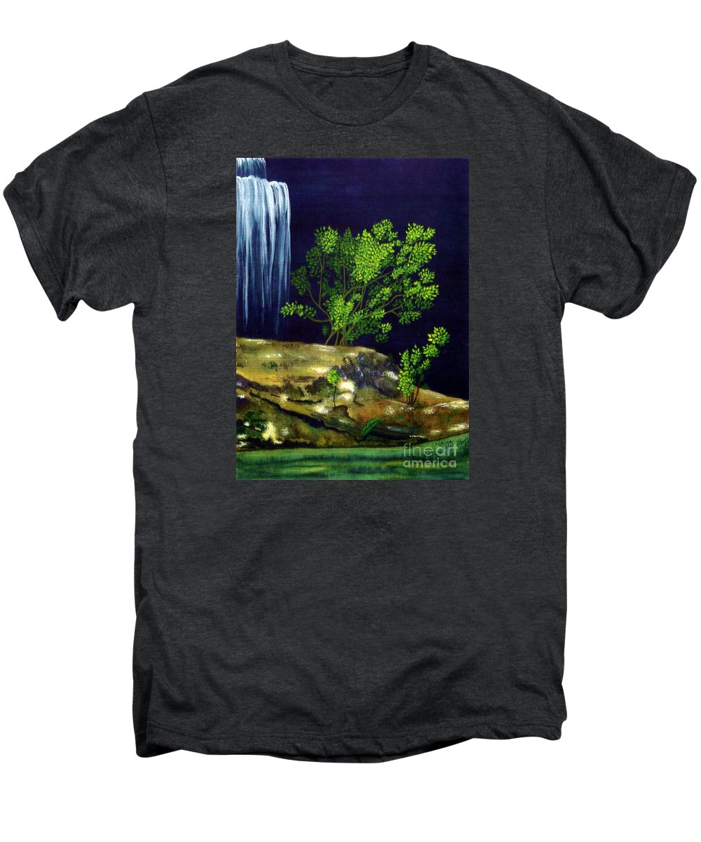 Fine Art Men's Premium T-Shirt featuring the painting Dark Waters by Patricia Griffin Brett