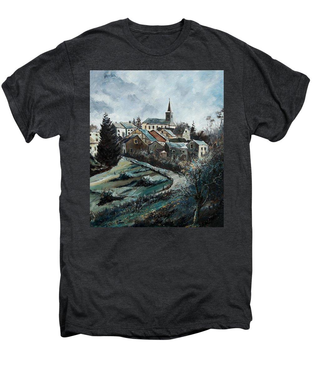 Village Men's Premium T-Shirt featuring the painting Daverdisse 78 by Pol Ledent