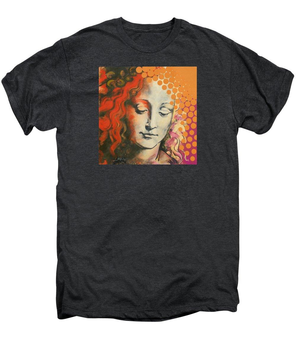 Figurative Men's Premium T-Shirt featuring the painting Davinci's Head by Jean Pierre Rousselet