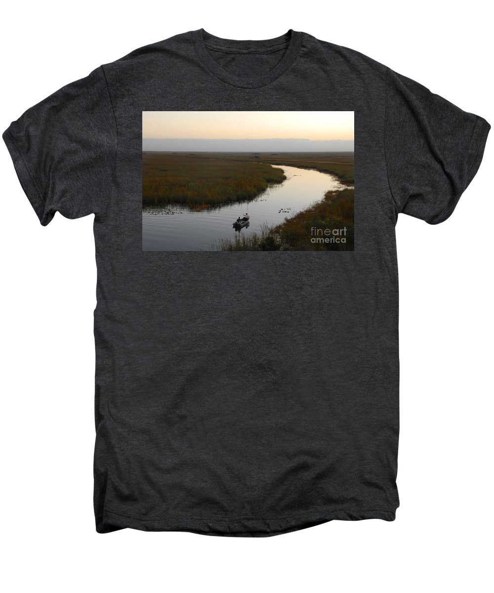 Fishing Men's Premium T-Shirt featuring the photograph Dawn Everglades Florida by David Lee Thompson