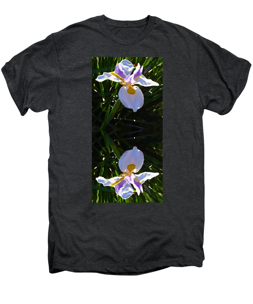 Daylily Men's Premium T-Shirt featuring the painting Day Lily Reflection by Amy Vangsgard