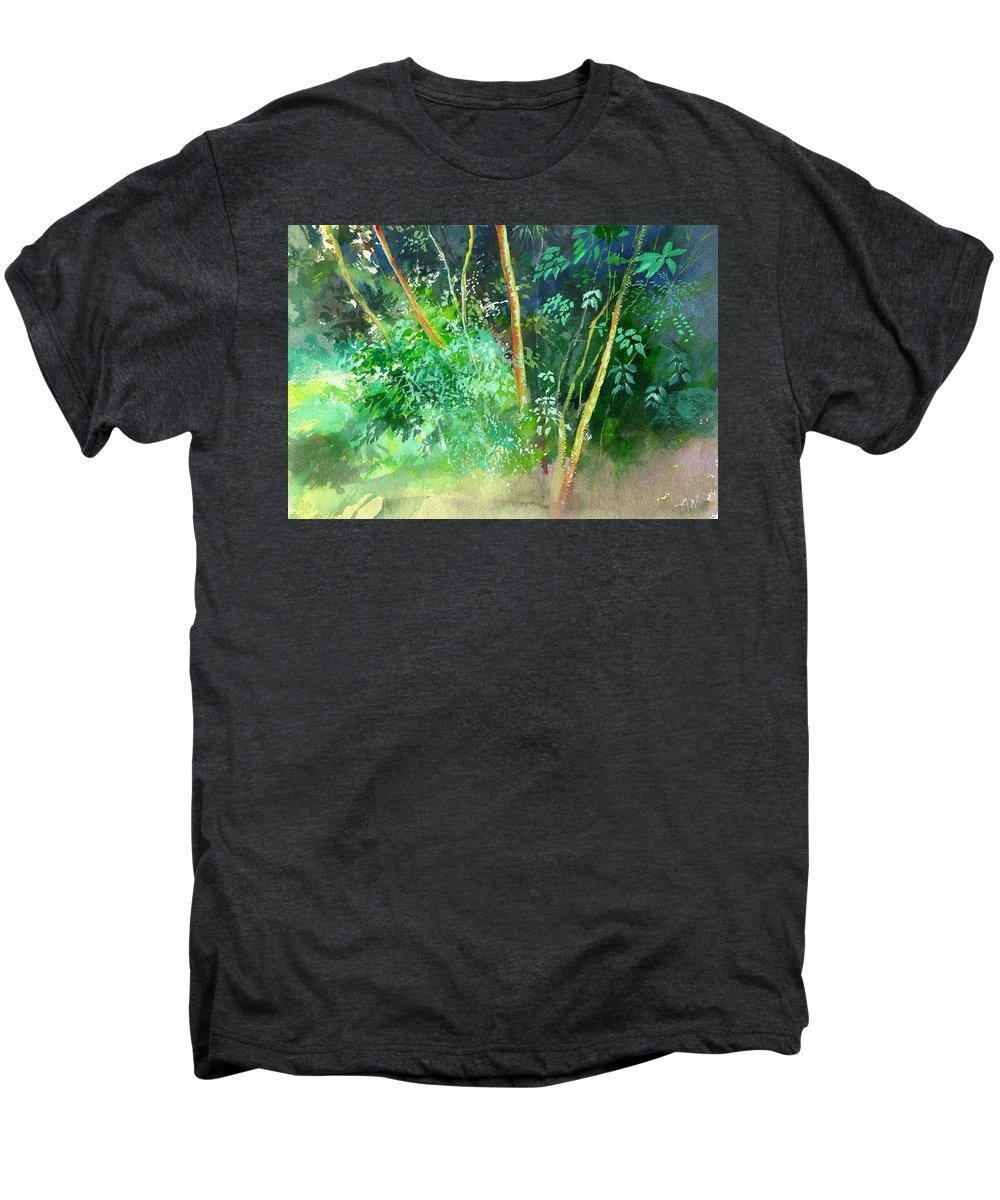 Water Color Men's Premium T-Shirt featuring the painting Deep by Anil Nene
