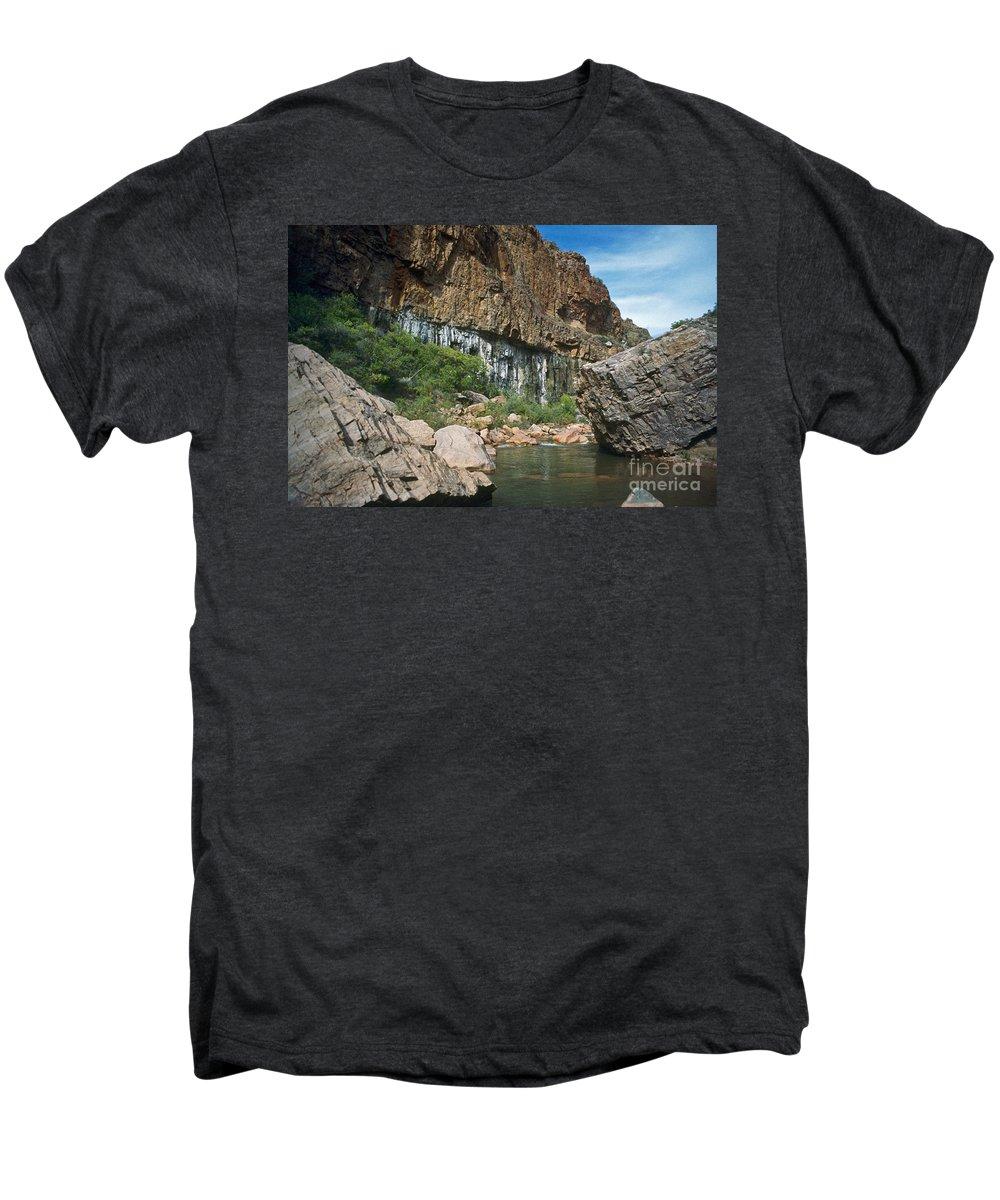 Landscape Men's Premium T-Shirt featuring the photograph Deep Water by Kathy McClure