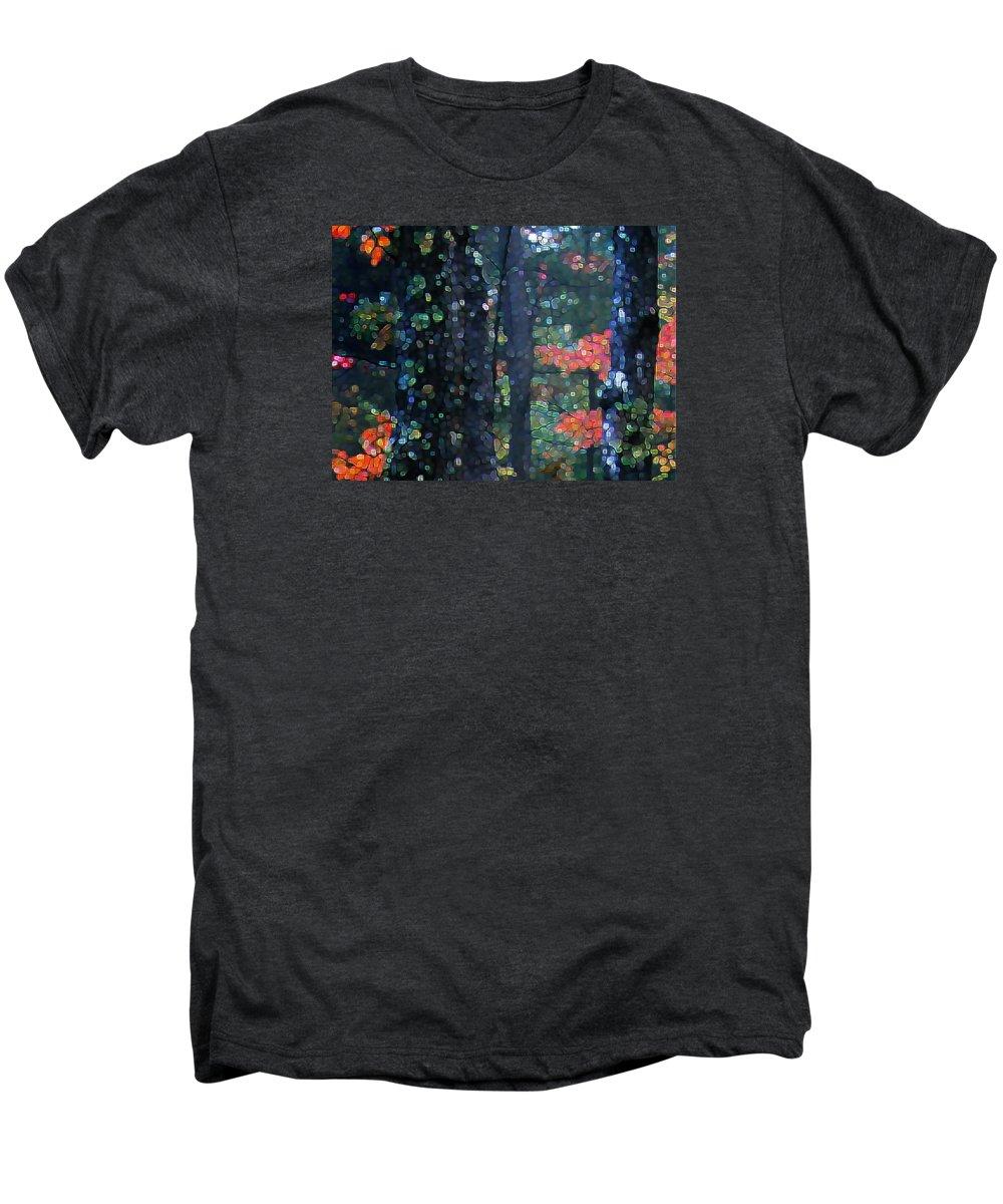 Landscape Men's Premium T-Shirt featuring the digital art Deep Woods Mystery by Dave Martsolf
