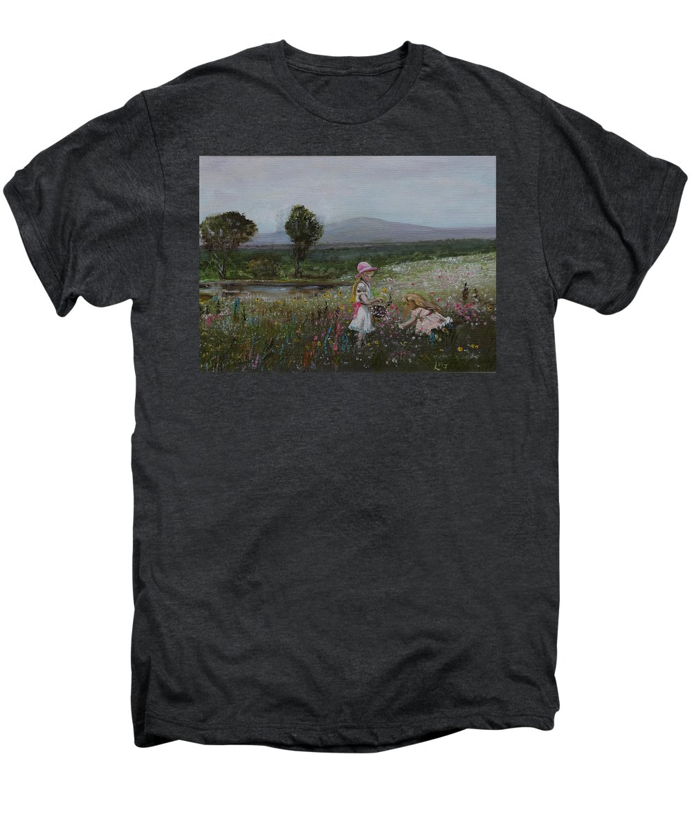Impressionist Men's Premium T-Shirt featuring the painting Delights Of Spring - Lmj by Ruth Kamenev