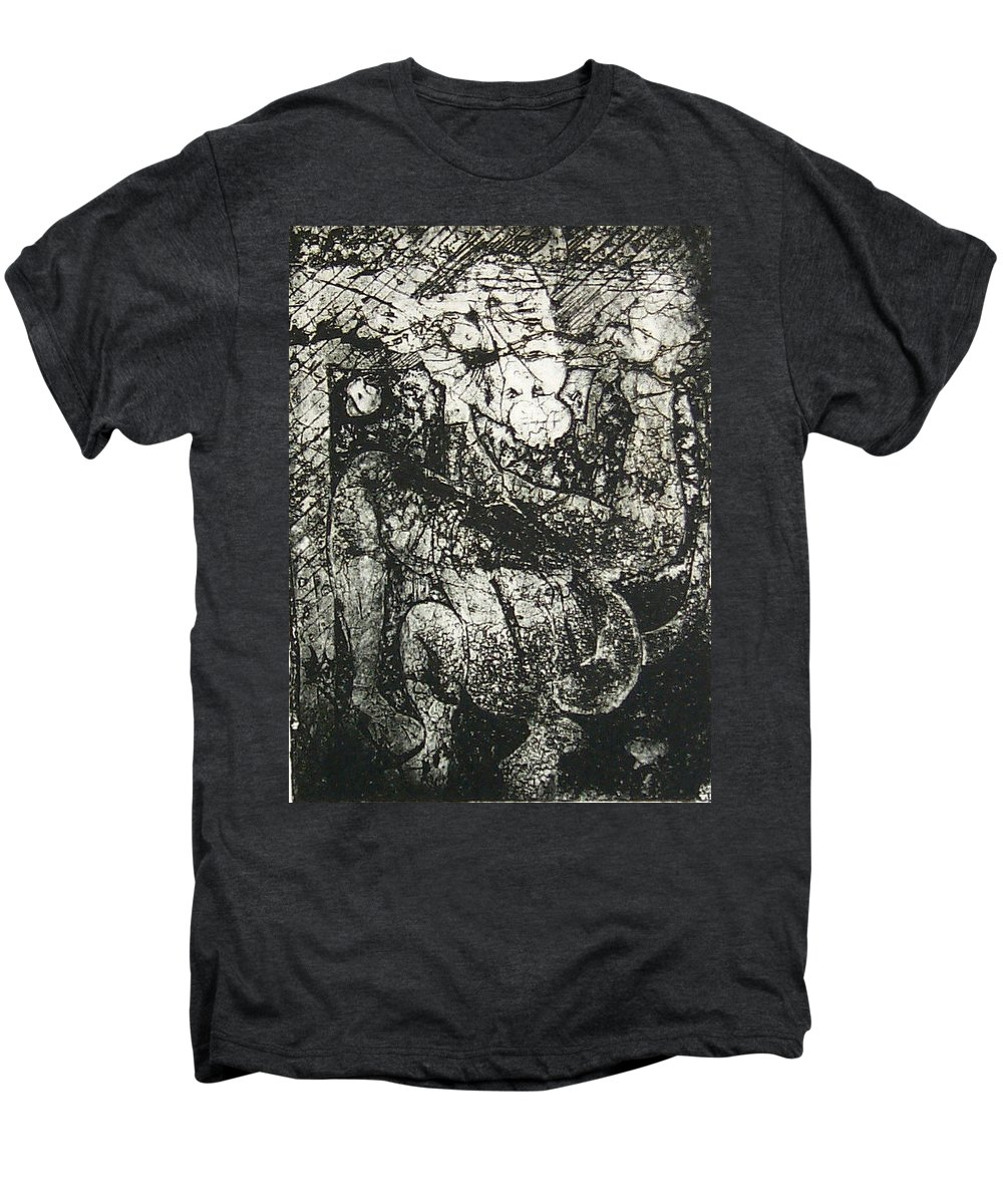 Etching Men's Premium T-Shirt featuring the print Destroy Plate by Thomas Valentine