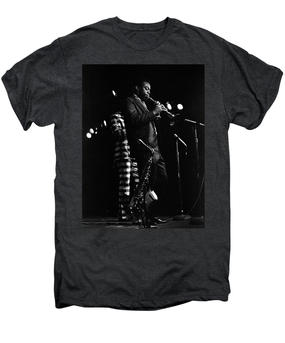 Dewey Redman Men's Premium T-Shirt featuring the photograph Dewey Redman by Lee Santa