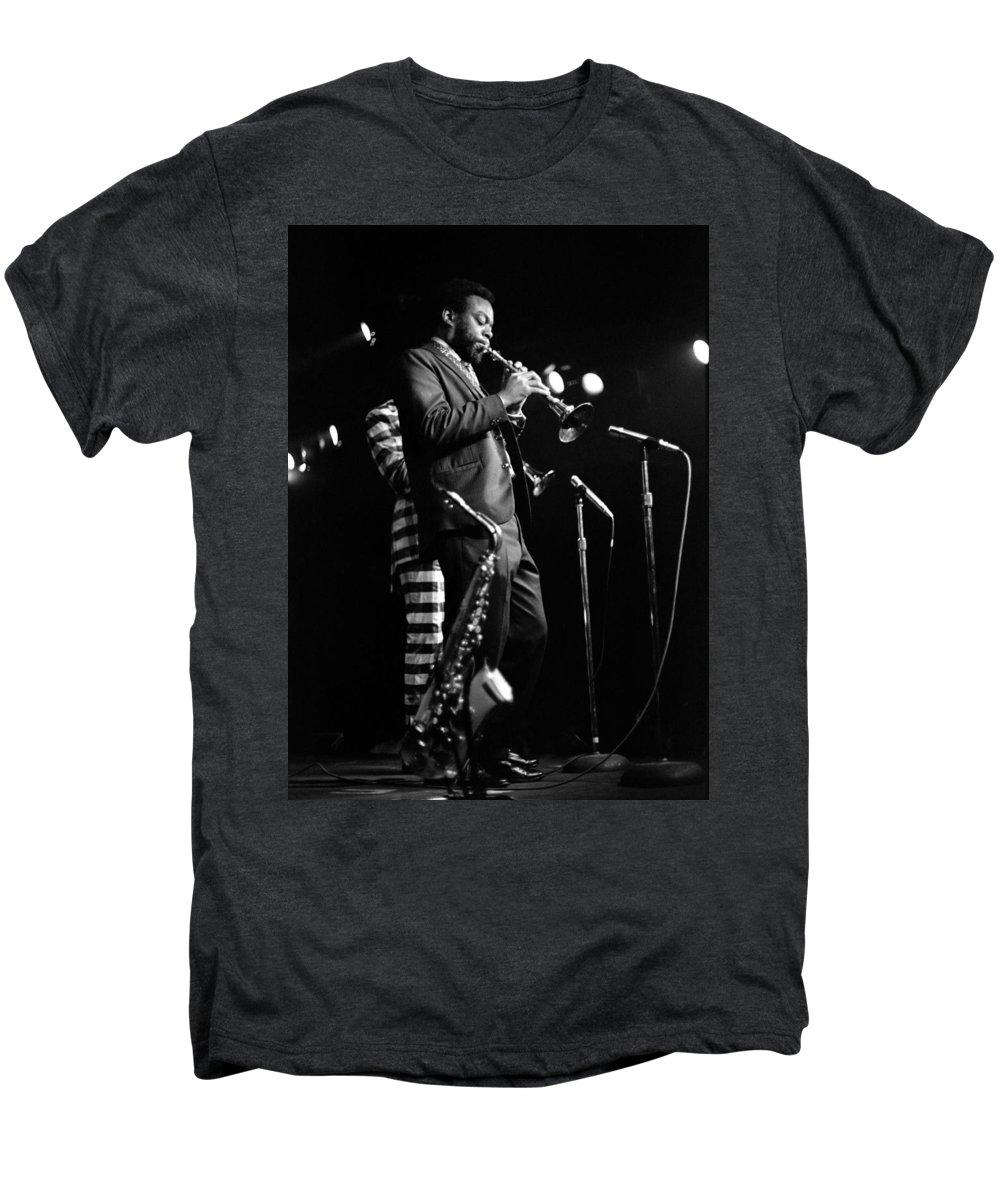 Ornette Coleman Men's Premium T-Shirt featuring the photograph Dewey Redman On Musette by Lee Santa
