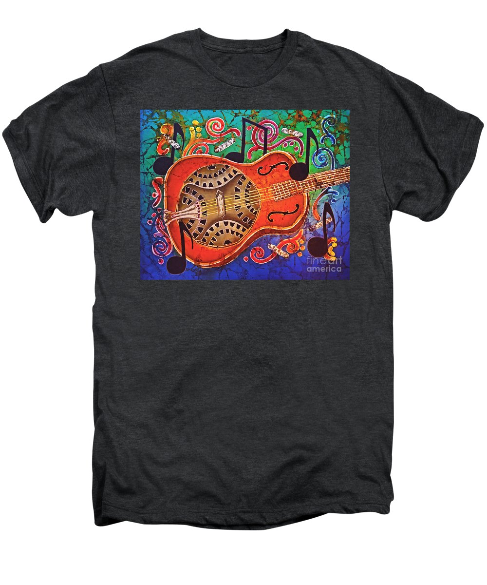 Dobro Men's Premium T-Shirt featuring the tapestry - textile Dobro - Slide Guitar by Sue Duda