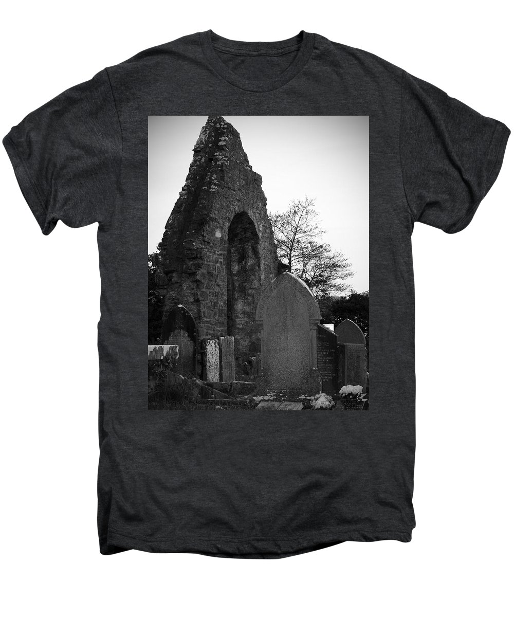 Irish Men's Premium T-Shirt featuring the photograph Donegal Abbey Ruins Donegal Ireland by Teresa Mucha
