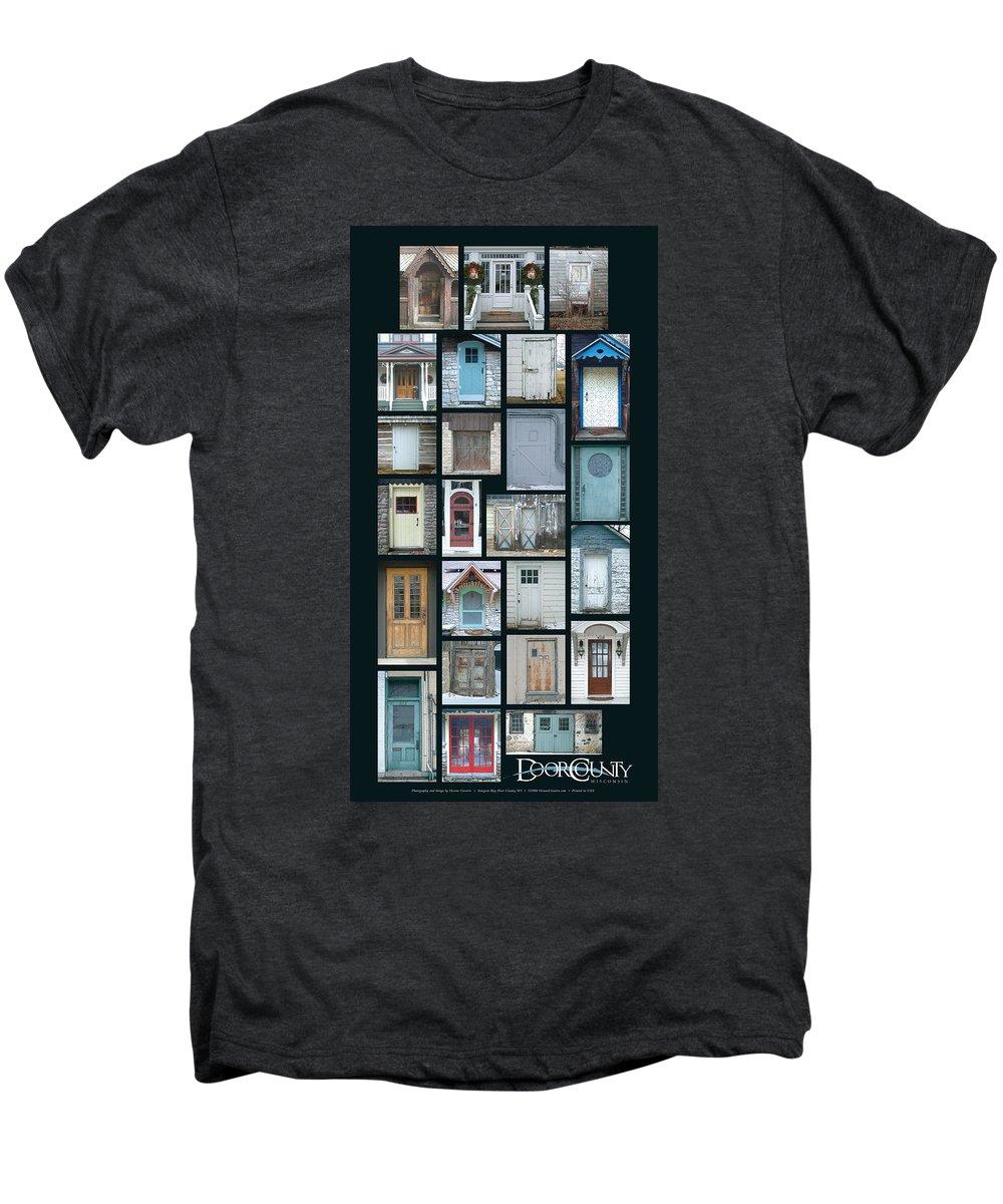 Doors Men's Premium T-Shirt featuring the photograph Doors Of Door County Poster by Tim Nyberg