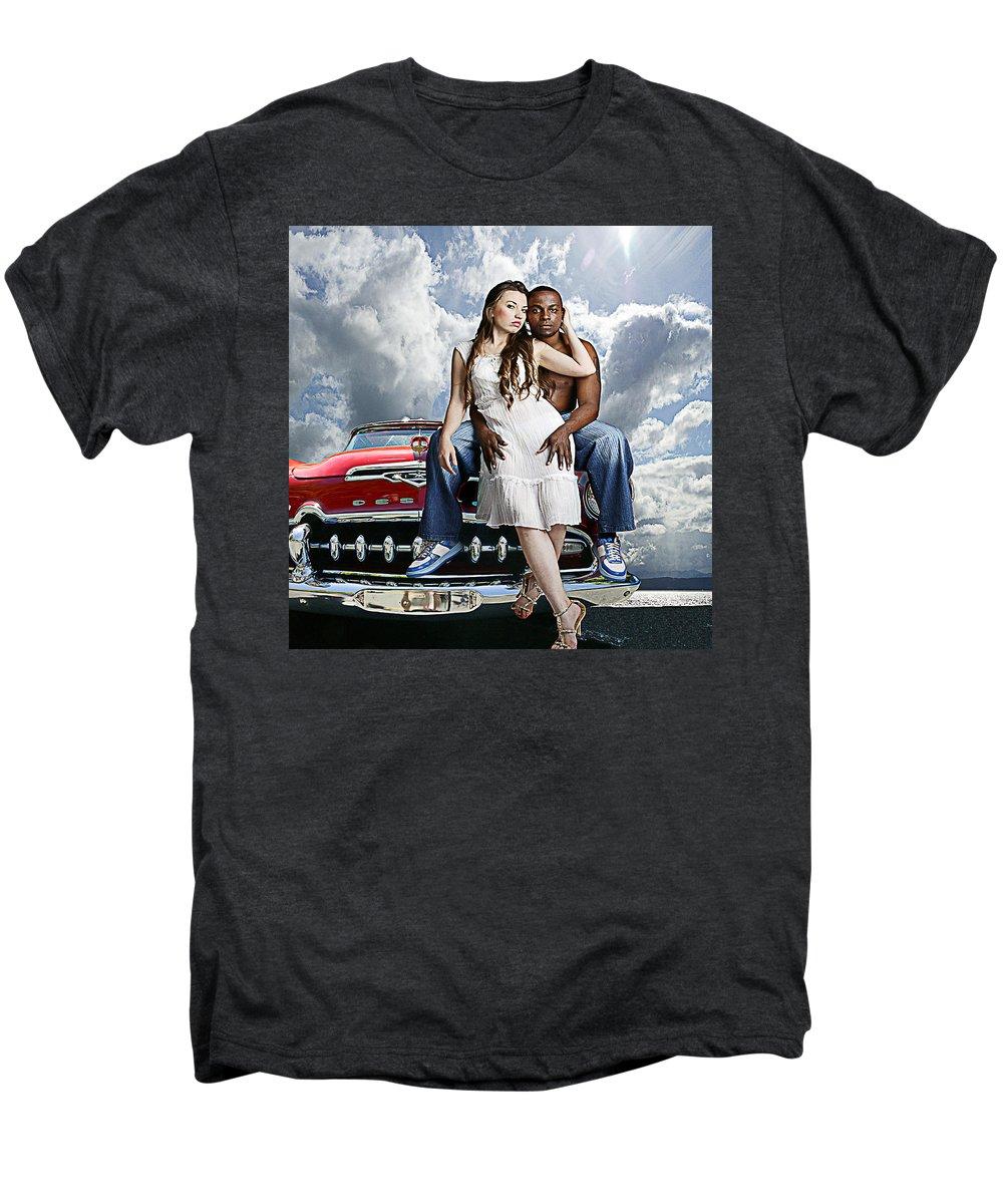 Auto Men's Premium T-Shirt featuring the photograph Downtown by Jeff Burgess