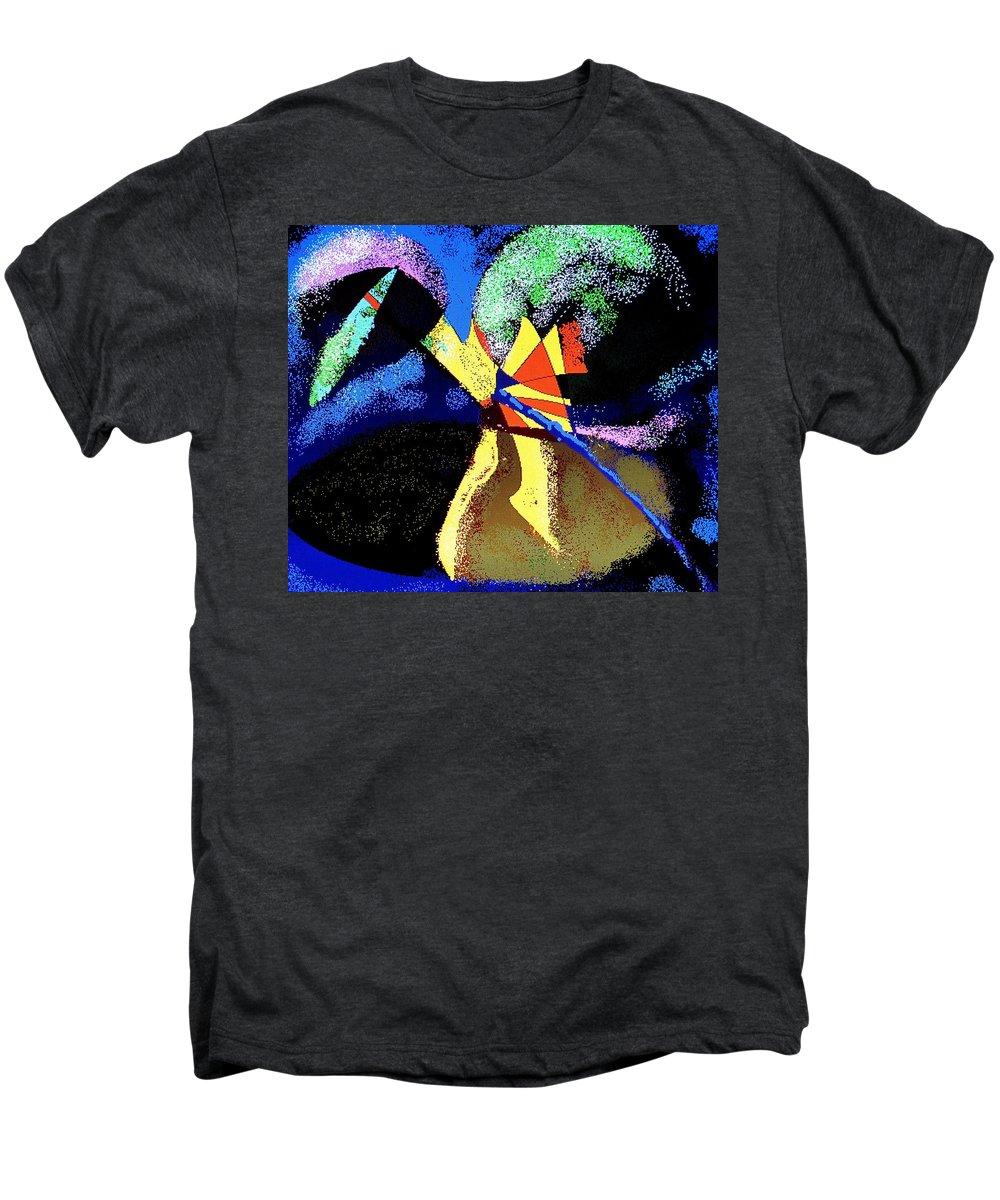 Digital Drawing Men's Premium T-Shirt featuring the digital art Dragon Killer by Ian MacDonald