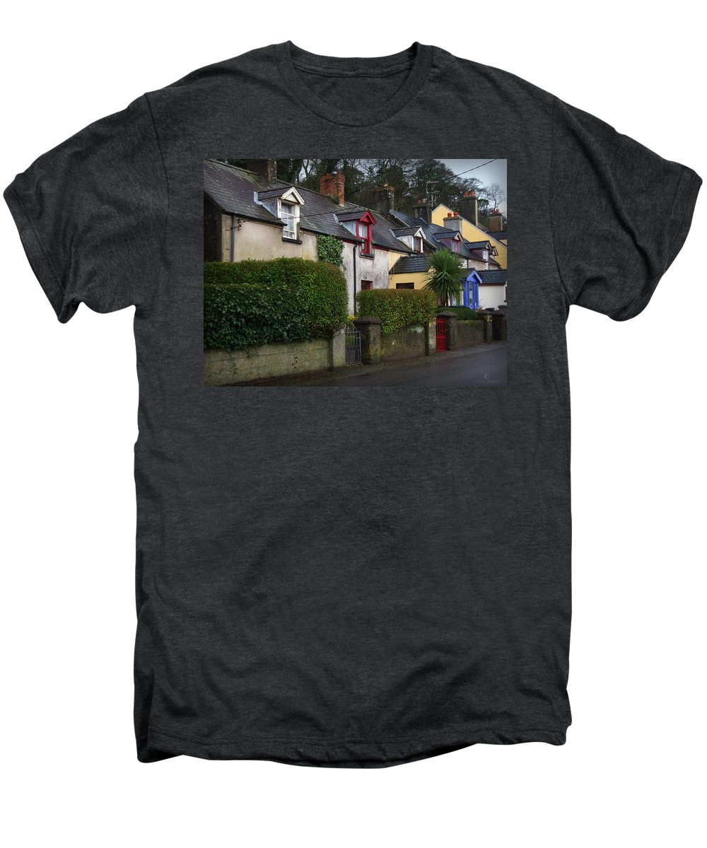 Ireland Men's Premium T-Shirt featuring the photograph Dunmore Houses by Tim Nyberg