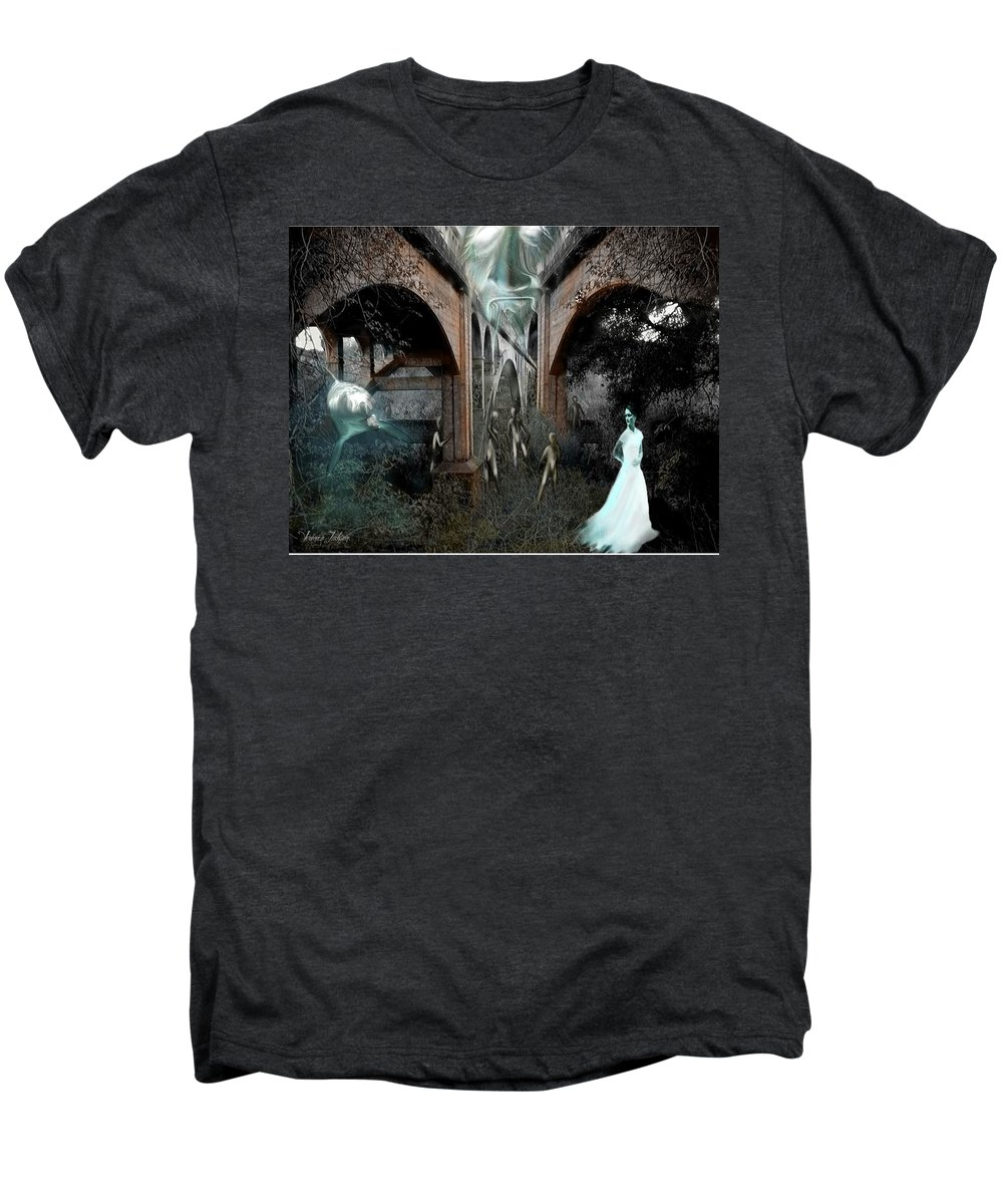 Eden Surreal Creatures Bridges Dreaming Men's Premium T-Shirt featuring the digital art Eden by Veronica Jackson