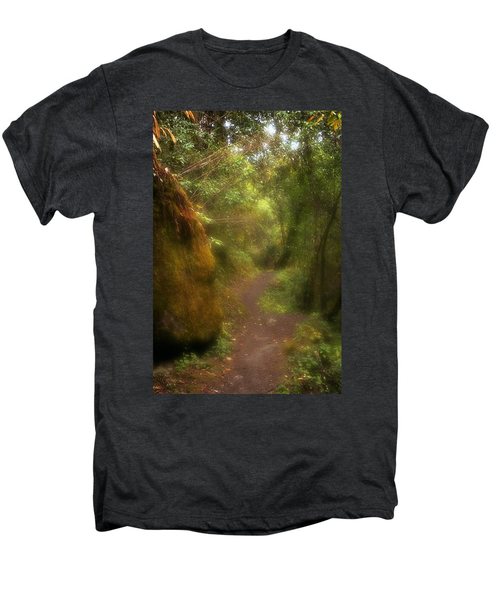 Path Men's Premium T-Shirt featuring the photograph El Camino by Patrick Klauss