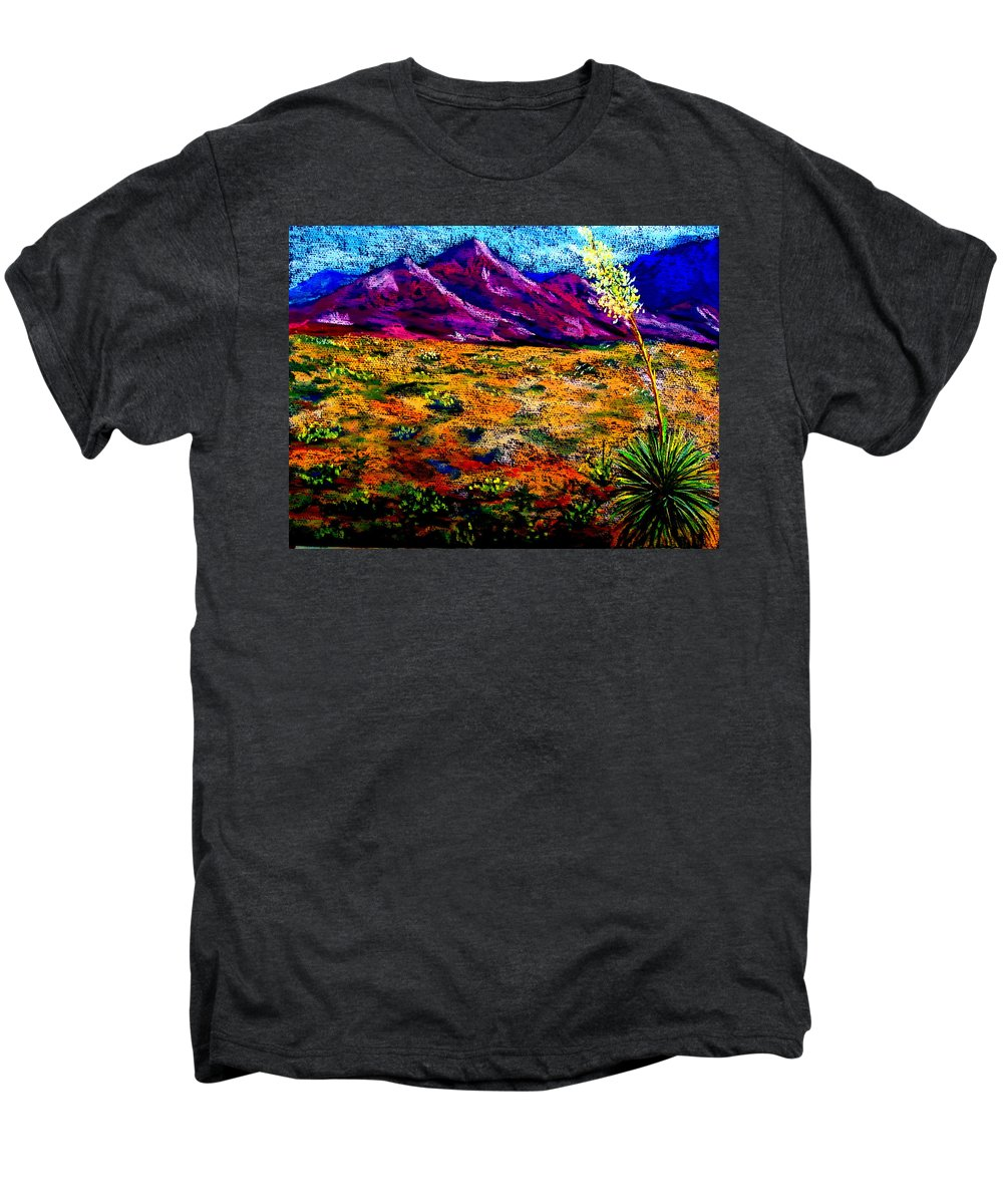 Yucca Men's Premium T-Shirt featuring the painting El Paso by Melinda Etzold