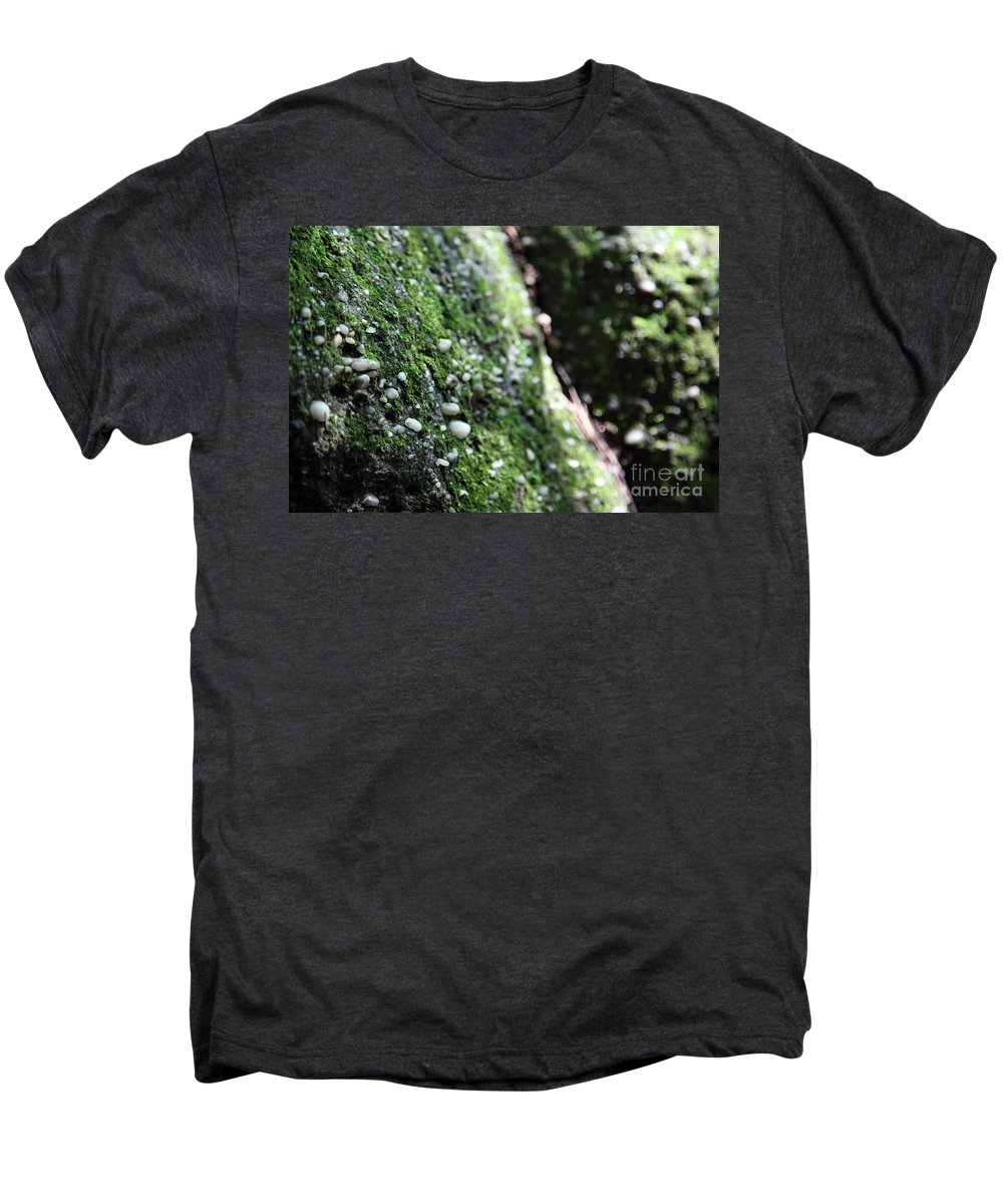 Rocks Men's Premium T-Shirt featuring the photograph Embedded by Amanda Barcon
