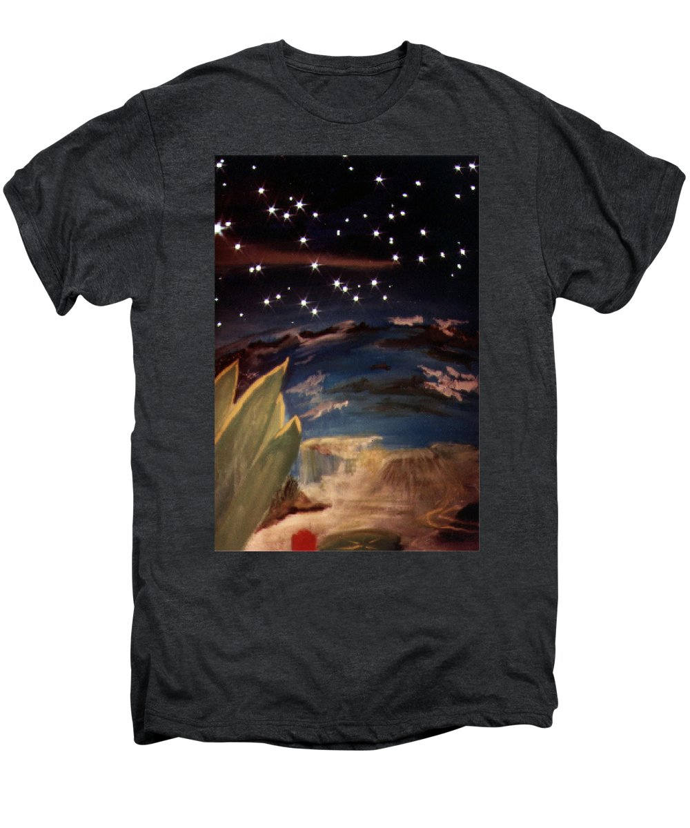 Surreal Men's Premium T-Shirt featuring the painting Enter My Dream by Steve Karol