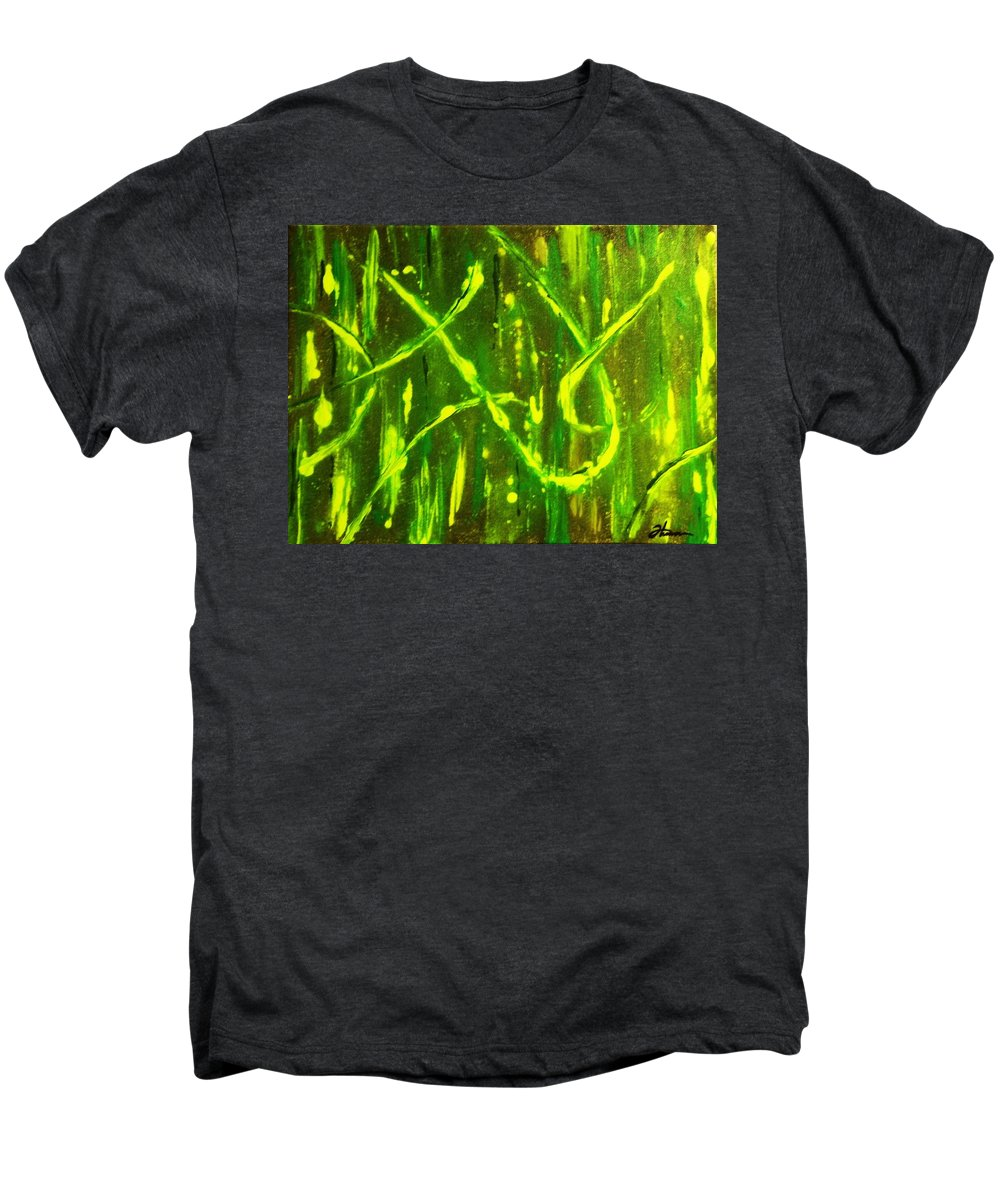 Abstract Men's Premium T-Shirt featuring the painting Envy by Todd Hoover