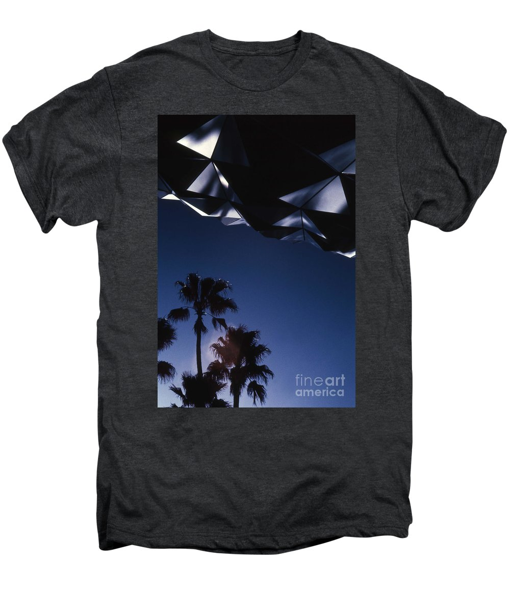 Epcot Men's Premium T-Shirt featuring the photograph Epcot Abstract by Richard Rizzo
