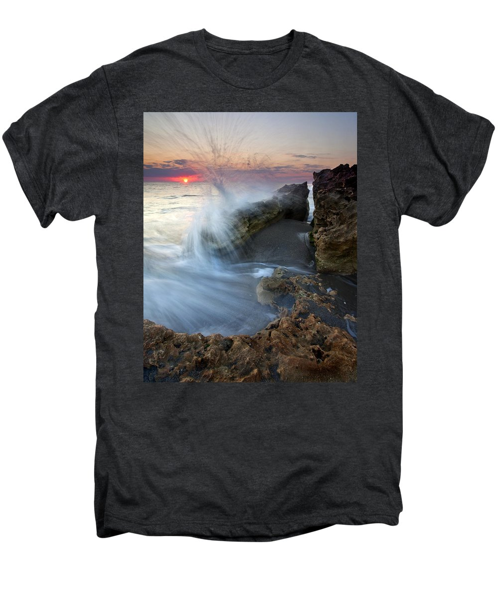 Blowing Rocks Men's Premium T-Shirt featuring the photograph Eruption At Dawn by Mike Dawson