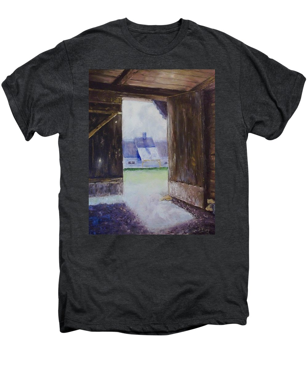 Shed Men's Premium T-Shirt featuring the painting Escape The Sun by Stephen King