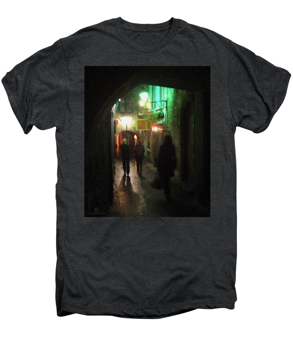 Ireland Men's Premium T-Shirt featuring the photograph Evening Shoppers by Tim Nyberg