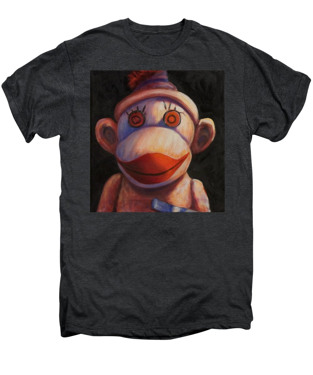 Children Men's Premium T-Shirt featuring the painting Face by Shannon Grissom