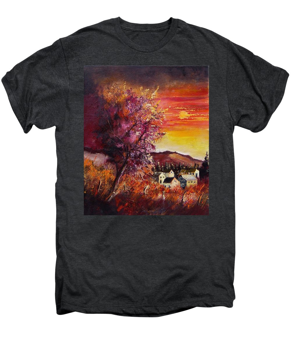 Autumn Men's Premium T-Shirt featuring the painting Fall In Villers by Pol Ledent