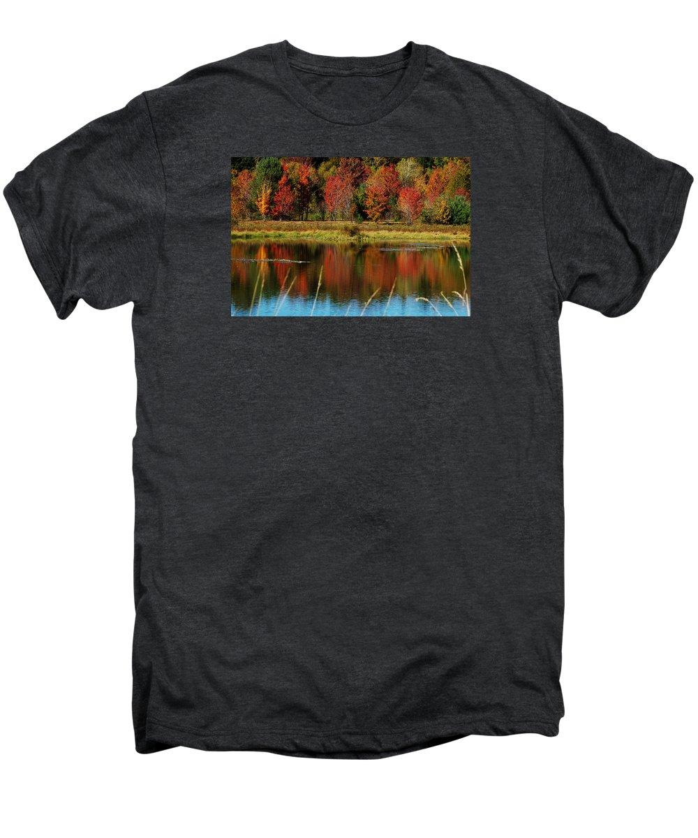 Autumn Men's Premium T-Shirt featuring the photograph Fall Splendor by Linda Murphy