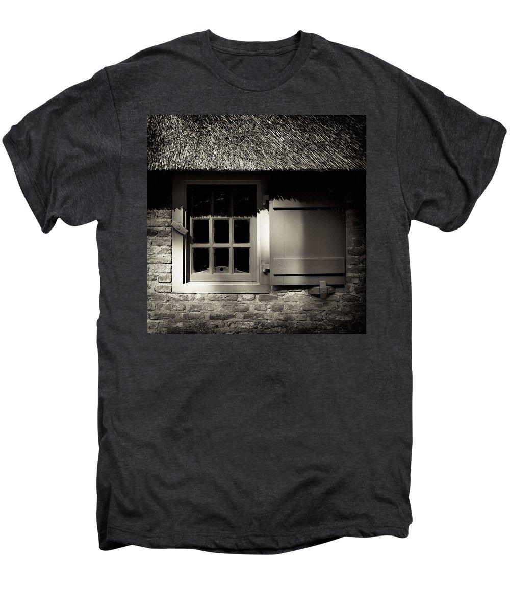 Dutch Men's Premium T-Shirt featuring the photograph Farmhouse Window by Dave Bowman