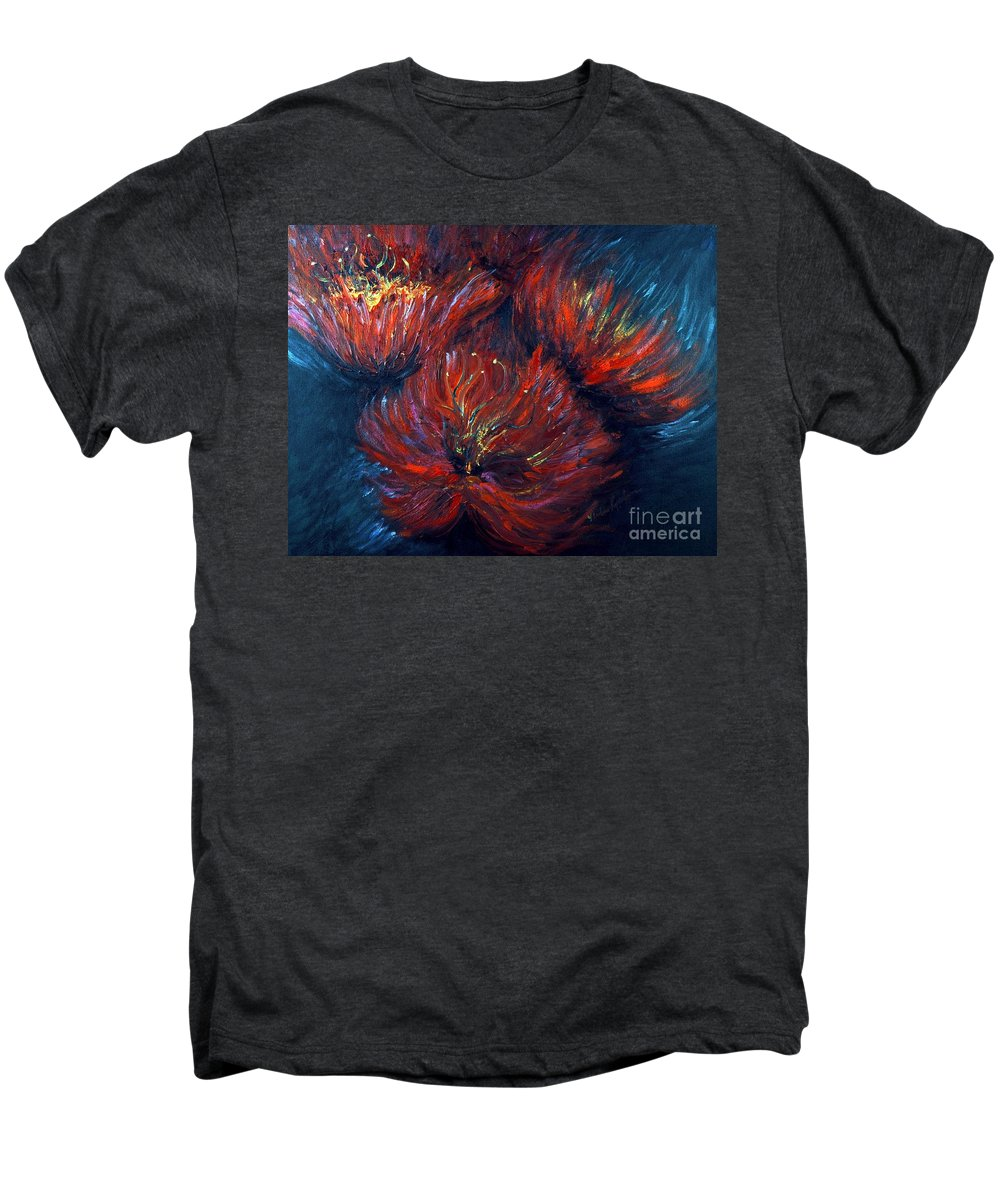 Abstract Men's Premium T-Shirt featuring the painting Fellowship by Nadine Rippelmeyer