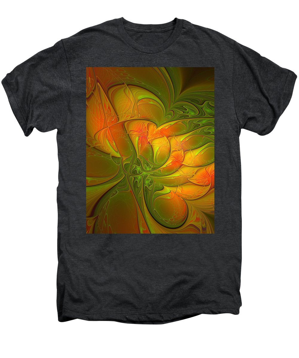 Digital Art Men's Premium T-Shirt featuring the digital art Fiery Glow by Amanda Moore