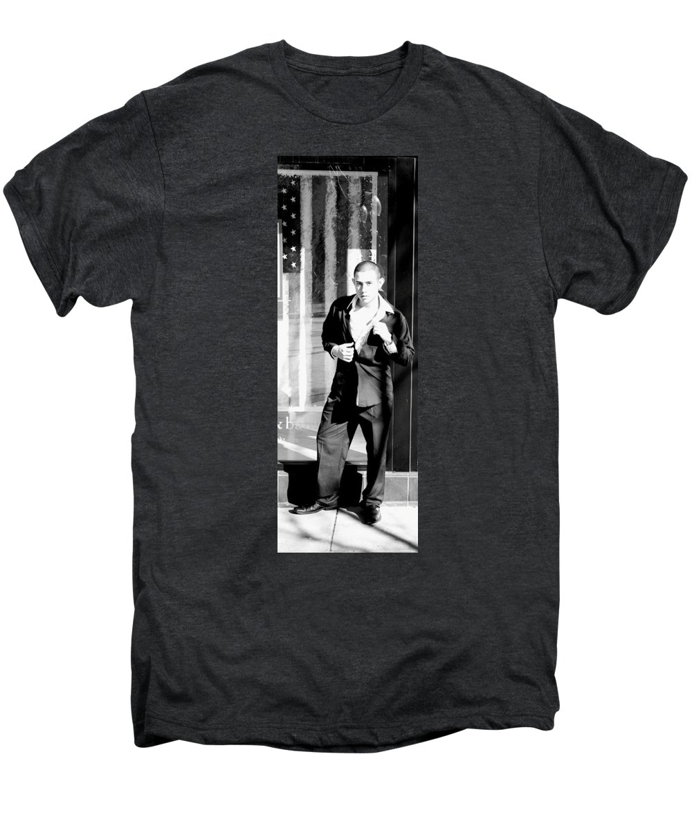America Men's Premium T-Shirt featuring the photograph Fine American Model by Angus Hooper Iii