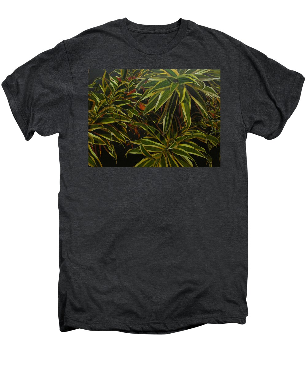 Leaves Men's Premium T-Shirt featuring the painting First In Cabot by Thu Nguyen