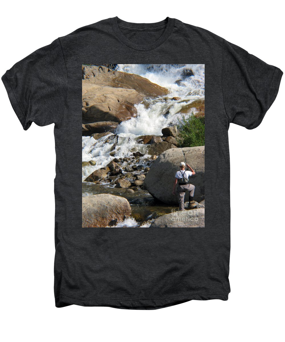 Fishing Men's Premium T-Shirt featuring the photograph Fishing Anyone by Amanda Barcon