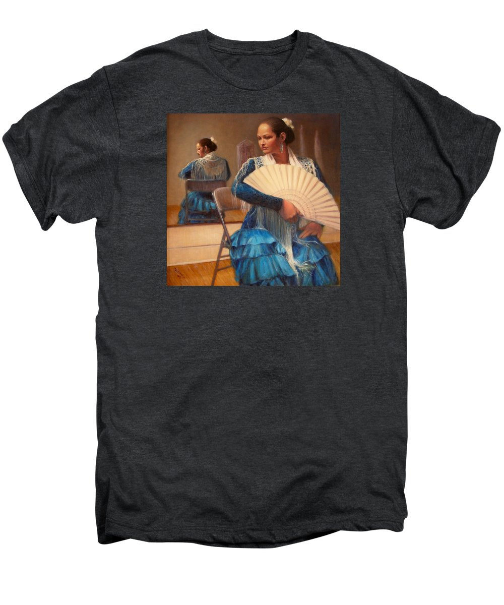 Realism Men's Premium T-Shirt featuring the painting Flamenco 1 by Donelli DiMaria