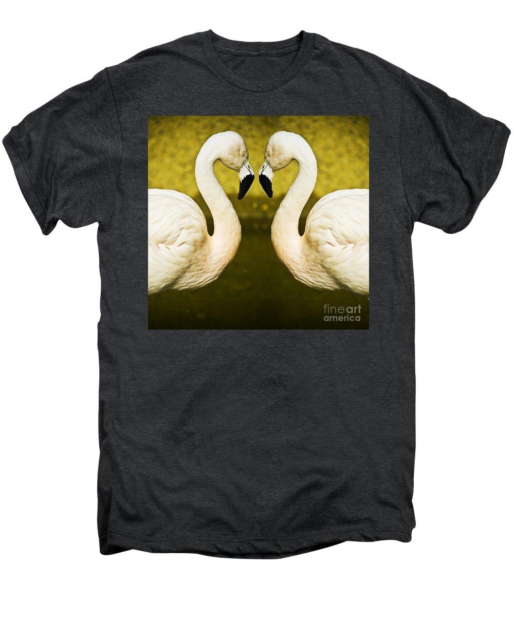 Flamingo Men's Premium T-Shirt featuring the photograph Flamingo Reflection by Sheila Smart Fine Art Photography