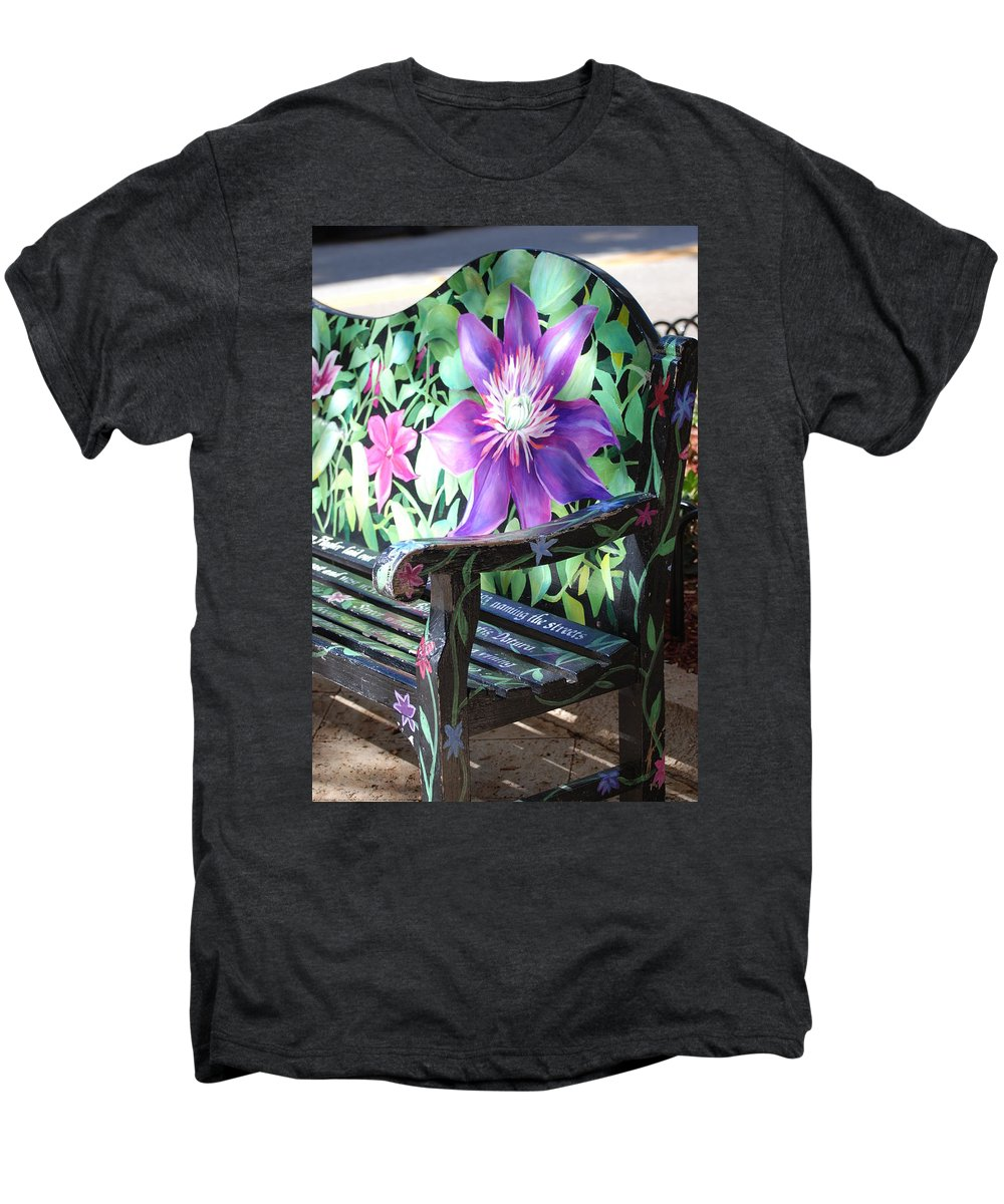 Macro Men's Premium T-Shirt featuring the photograph Flower Bench by Rob Hans