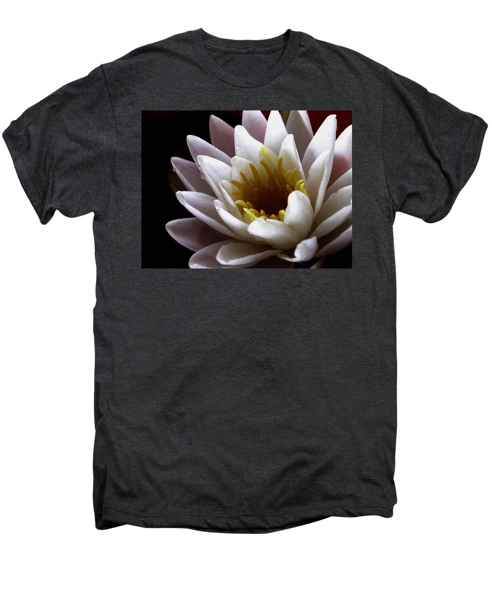 Flowers Men's Premium T-Shirt featuring the photograph Flower Waterlily by Nancy Griswold
