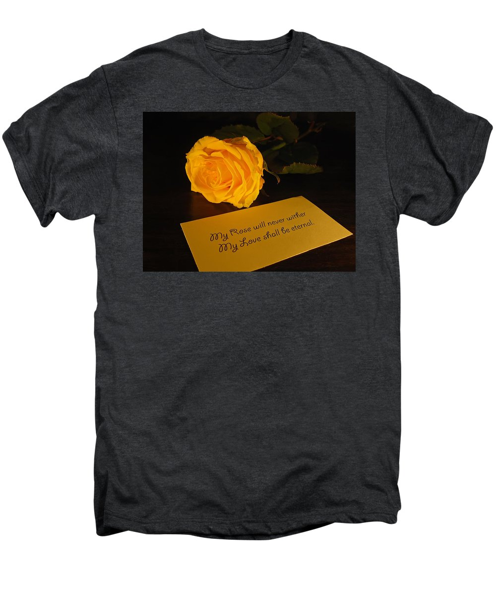 Valentine Men's Premium T-Shirt featuring the photograph For My Love by Daniel Csoka