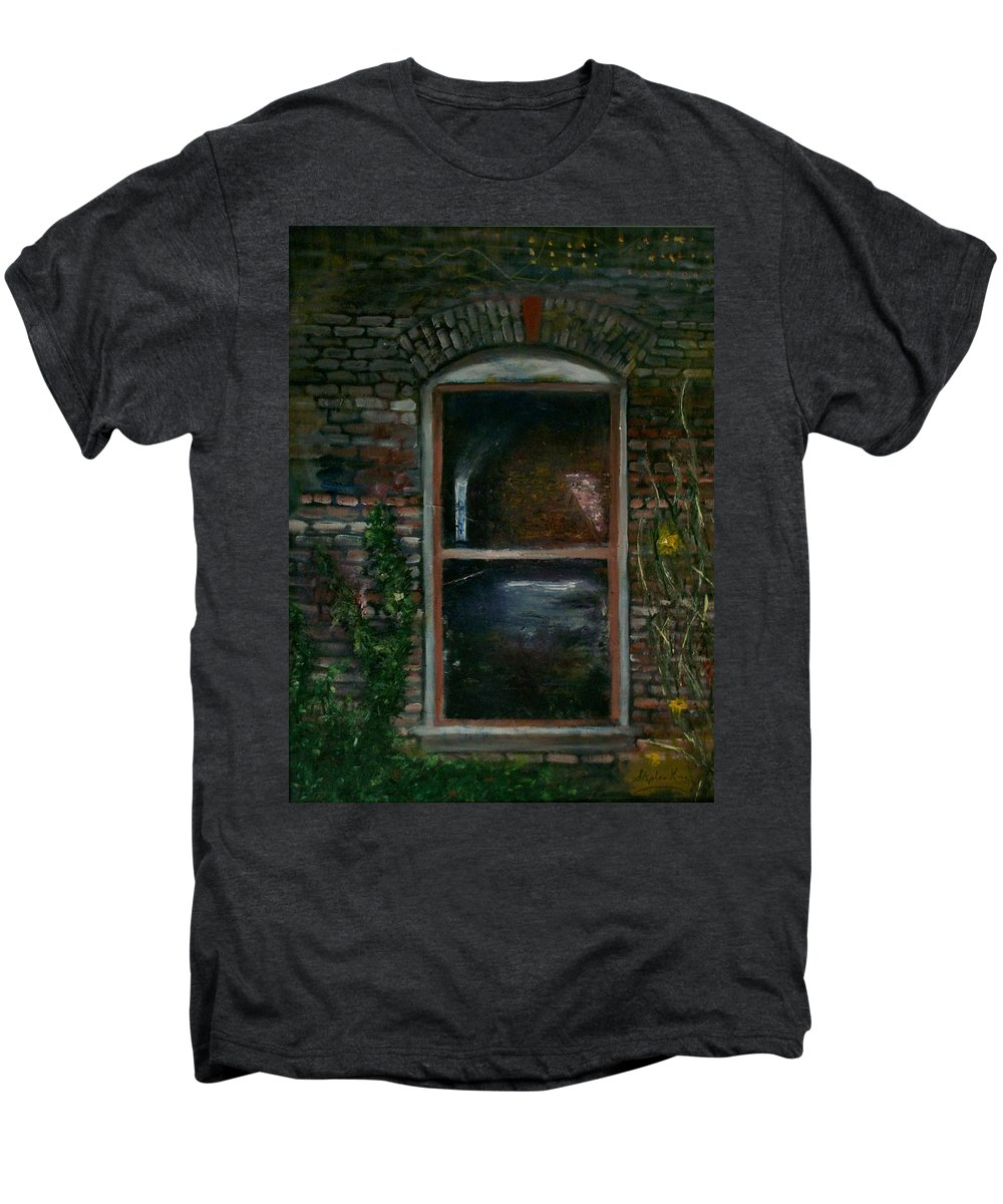 Landscape Men's Premium T-Shirt featuring the painting For Rent by Stephen King