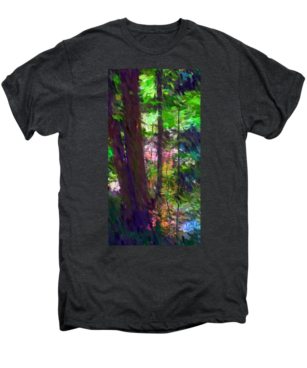 Digital Photography Men's Premium T-Shirt featuring the digital art Forest For The Trees by David Lane